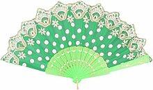 sourcingmap Sommer Plastik Rahmen Handhalt Chinese Stil Kühlung Falte Hand Ventilator