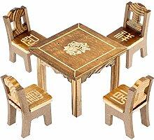 sourcingmap® Tisch Stuhl Set Holz Dekoration