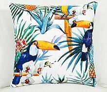Southeast Asian Style Regenwald Wildleder Kissen Quilt/ Klimaanlage Dual-Use/ Kissen Sofa-E 40x40cm(16x16inch)