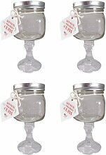 Southern Homewares Redneck Margarita Glas, 4-Pack
