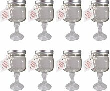Southern Homewares Redneck Margarita Glas, 8-Pack