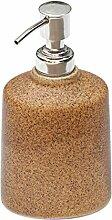 SouvNear braun Seifenspender / Lotionspender / Gel Spender / Shampoo Spender aus Keramik - 16.2 cm – Flüssigseifenspender - küche Spülbecken / Bad Accessoires