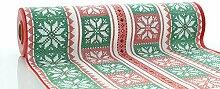 Sovie HORECA Airlaid Tischläufer Chriss 40cm x 24m / Tischdecken-Rolle stoffähnlich /Weihnachten (Rot-Grün)