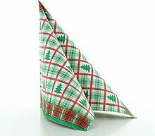 100 St/ück Sovie HORECA Serviette Liam in Bordeaux aus Tissue 40 x 40 cm Weihnachten Xmas Deko Fest