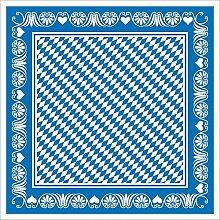Sovie Horeca Tischdecke 80x80 cm BAVARIA / Mitteldecke stoffähnlich für Oktoberfest und Wiesn Party / 20 Stück (Blau)