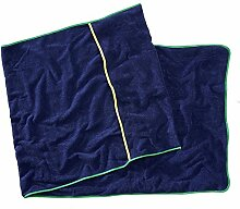 Sowel Strandtuch mit Kapuzenüberschlag, Handtuch für Liege, Reine Baumwolle, 80 x 220 cm, Navy Grün