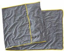 Sowel® Strandtuch mit Kapuzenüberschlag, Liegenauflage für Strandliege und Saunaliege, 100% Baumwolle Frottee