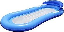 SOWUDM Aufblasbarer Pool Luftmatratze mit Net Sun