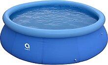 SOWUDM Aufblasbarer Pool Runder aufblasbarer