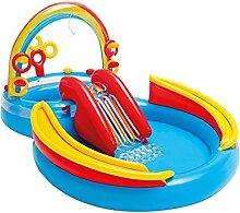 SOWUDM Aufblasbarer Pool Wasserschieber