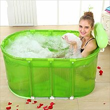 SPA Badewanne Sauna Bad Edelstahl Halterung, um das Klappgrün zu erhöhen ( Color : Green )