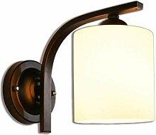 SPA Glas Zylindrische Lampenschirm Lampe Wandlampe
