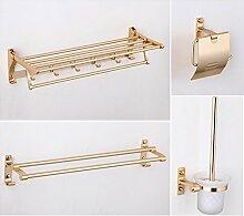 Space Aluminium-Metall-Bad-Accessoires Handtuch Regal Bad Aktivitäten [Handtuchhalter] Haken WC Fach WC-Bürstenhalter -P