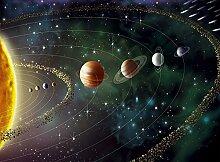 Space And Universe Planeten Foto-Tapete - Größe 315x232 cm