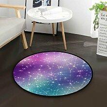 Space Cosmic Constellation Star Teppich für