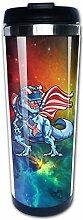Space Dinosaurier Amerikanische Flagge USA