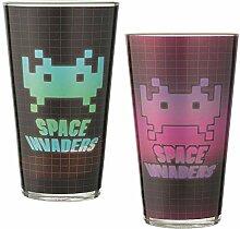 Space Invaders Glas-Set für Laseraufkleber, 473