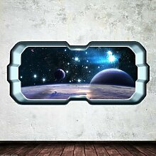 Space Planet Fenster Galaxy Stars Full Farbe Art