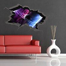 Space Planeten Universe Galaxy Welt gebrochenen 3D–Art Wand Aufkleber jungen Aufkleber Wandbild new18