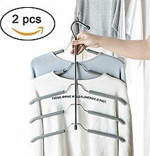 Space Saver Kleiderbügel Kleiderschrank Kleidung Closet Edelstahl Magic Lagerung Organizer zufällige Farbe 2
