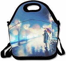 Space Unisex Lunch Box Food Bag Lunch Bag For