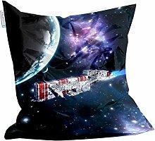 Spaceship Design Sitzsack von Showtex Kinder bedruckt (space 3)