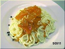 Spaghetti mit Tomatensauce - Lebensmittelnachbildung, Requisite, Fake Food, Lebensmittelimitation, Spagetti