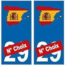Spanien Nummer Wahl Plan selbstklebend Nummernschild -
