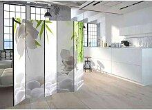 Spanischer Raumteiler mit Orchideen und Bambus 225