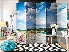 Spanischer Raumteiler mit Strand Landschaft modern