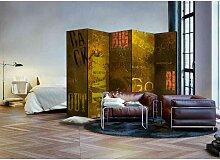 Spanischer Raumteiler mit Wörter Motiven 225 cm
