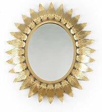 Spanischer Spiegel mit Rahmen in Sonnen-Optik,
