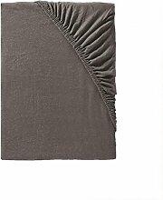 Spannbettlaken 90x200 braun bis Spannbettlaken 100x200 elastisch · Jersey Spannbetttuch in dunkel braun · Ideal zu kombinieren mit braune Bettwäsche