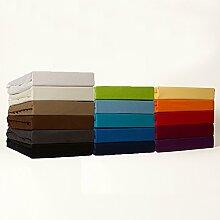 Spannbettlaken Bettlaken Microfaser 180x200 - 200x200 cm / Spannbetttuch Spannleintuch aus 100% Polyester in türkis für Doppelbett-Matratzen