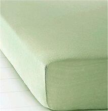 Spannbettlaken Biber, grün (100/200 cm)