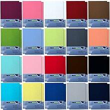 Spannbettlaken DOPPELPACK Jersey Baumwolle Spanbettücher Bettlaken in Farbe: Rosa, Größe: 140 x 200 cm - 160 x 200 cm