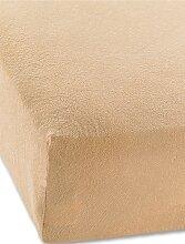 Spannbettlaken Frottee, braun (200/200 cm)