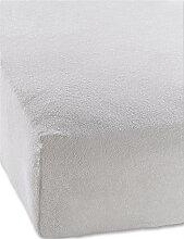 Spannbettlaken Frottee, grau (1er-Pack 200/200 cm)