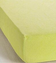 Spannbettlaken Frottee, grün (100/200 cm)