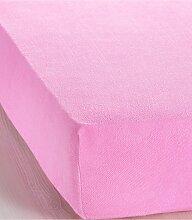 Spannbettlaken Frottee, rosa (1er-Pack 100/200 cm)
