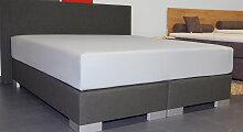 Spannbetttuch 2N1, 180x200 cm, schwarz (82)