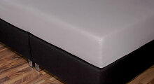 Spannbetttuch Topper, 160x210 cm, anthrazit