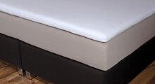 Spannbetttuch Topper, 200x200 cm, schwarz