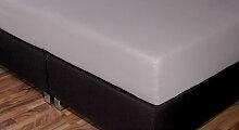 Spannbetttuch Topper, 90x220 cm, schwarz