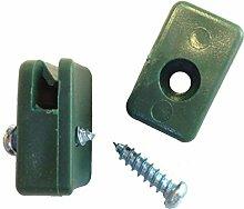 Spanndrahthalter PVC 30 Stk inkl. Bohrschrauben