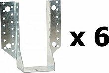 Spar-Set (6-teilig)–Simpson strong-tie–Blitzschuh Flügel Außen T500Breite 100Höhe 200Tiefe 84Stärke 2, Ref. sae500/100/2