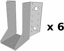 Spar-Set (6-teilig)–Simpson strong-tie–Blitzschuh Flügel Außen T340Breite 64Höhe 138Tiefe 84Stärke 2, Ref. sae340/64/2