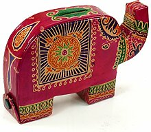 Spardose aus Leder Elefant / Kindermöbel, Deko/ Variante: Farbe: pink