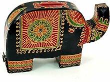 Spardose aus Leder Elefant / Kindermöbel, Deko