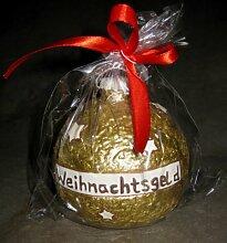 Spardose Christbaumkugel gold Nikolaus
